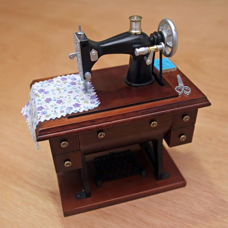 Sewing machine music box