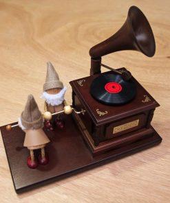 木偶雙人唱片機音樂盒