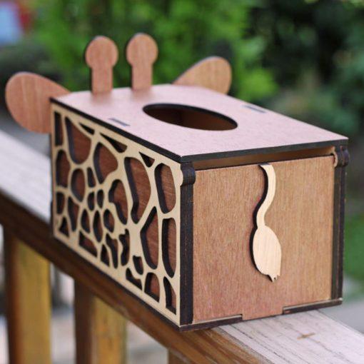 長頸鹿面紙盒