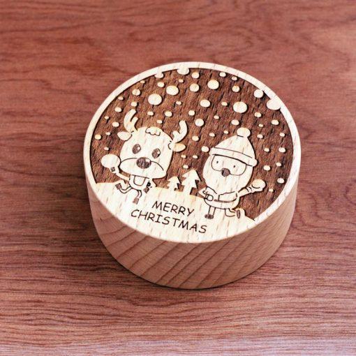 聖誕音樂盒-聖誕麋鹿打雪仗
