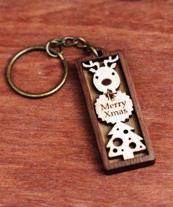 麋鹿聖誕樹鑰匙圈